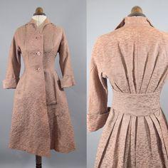 Vintage 1940s Rose Gold Princess Coat  by alexandrakingdesign, £290.00