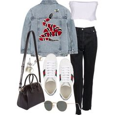 Vetements, Gucci, Twin-Set, Givenchy and Ray-Ban Gucci Outfits, Mode Outfits, Trendy Outfits, Fashion Outfits, Teen Fashion, Korean Fashion, Womens Fashion, Polyvore Outfits, Mode Rockabilly