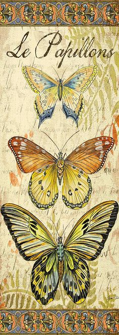 Le Papillons Amore-2 Painting