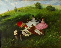Pal Szinyei Merse - Picnic in May - National Gallery, Budapest, Hungary Writing Conferences, Oil On Canvas, Canvas Prints, Google Art Project, National Gallery, Canvas Online, Art Google, Contemporary Art, Image