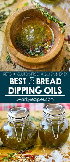 Quick and Easy Bread Dipping Oils. Delicious and quick appetizer to make. Pair olive oil recipes with almond bread, crusty bread, or gluten-free bread. Bread Dipping Oil, Bread Oil, Pesto, Easy Appetizer Recipes, Healthy Appetizers, Chimichurri, Olive Oil Dip For Bread, Olive Oil Bread Dip, Olive Oil Pasta Sauce