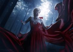 little red riding hood by AF-studios on deviantART Lightroom, Photoshop, Creepy Pictures, Pictures To Draw, Creative Pictures, Cool Photos, Gothic Drawings, Gothic Fantasy Art, Photography Pics