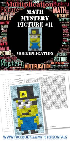 Math Mystery Picture #11 with Multiplication. This a fun way for your students to work on multiplication facts. Your students will enjoy bringing this Thanksgiving Minion to life. Please visit my store at TPT for a full preview. $