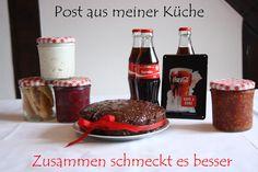 also coca cola Kuchen Amarant knusper müsli Johannisbeerchutney Tomaten Zwiebel Chutney käsestangen und Gemüsedip