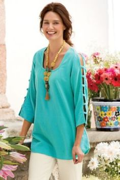 Anguilla Gauze Tunic from Soft Surroundings