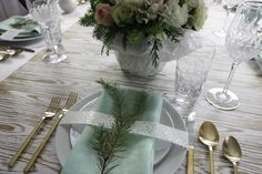 Christmas 2015 tablescape via Inspiration in Stages