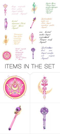 """Doki Doki Planet's Warriors Sailors Collection Attacks Wands  Part 2"" by belmabjelic2 ❤ liked on Polyvore featuring art"