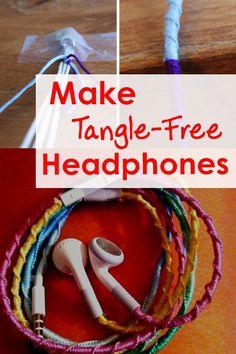 Make Tangle-Free Headphones