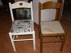 židle předtím a potom