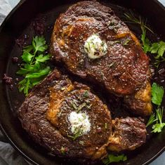 Ribeye steak recipe Healthy Diet Recipes, Healthy Meal Prep, Beef Recipes, Beef Meals, Simple Recipes, Healthy Weight, Yummy Recipes, Oven Baked Chicken, Baked Chicken Breast