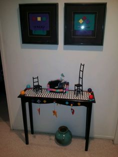 Gails mini chair collection and art.