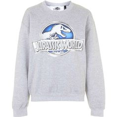TOPSHOP Jurassic World Sweatshirt by Tee & Cake ($49) ❤ liked on Polyvore featuring tops, hoodies, sweatshirts, sweaters, shirts, grey, topshop, gray sweatshirt, shirts & tops and topshop shirt