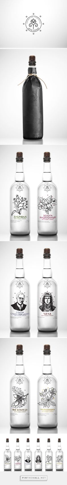 Moonshine packaging branding on Behance by Andreana Chunis curated by Packaging Diva PD. Love this illustrated bottle design for Moonshine : )