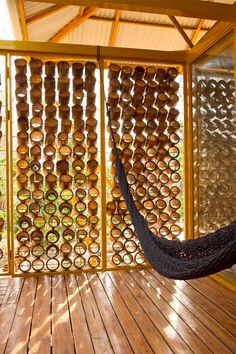 Bamboo-design-fun-metal-roof-low-cost-hammock - Oceano Yoga and Surf Community Bamboo Art, Bamboo Crafts, Bamboo Roof, Bamboo House Design, Bamboo Building, Bahay Kubo, Bamboo Structure, Bamboo Construction, Bamboo Architecture