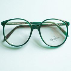 ce6011b95f62 Anglo American 90s Vintage Glasses Frames   Round Eyeglasses Woman   Mod.  132 Retro Eyewear   Oversized Glasses Green   Gift for Her
