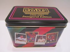 Skybox 1990-1991 Inaugural Edition Vintage Tin - Official NBA Licensed Product - Collectible NBA Sports Tin Container by VKVDesigns on Etsy