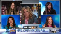 HLN/CNN's Jane Velez-Mitchell in the Lion's Den arguing about what else but the Biebs!