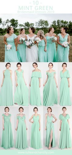 ed8168c1bc1 41 Best mint green bridesmaid dresses images