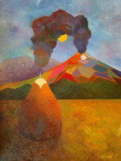"Saatchi Art Artist Stefan Silvestru; Painting, ""The cold hearted arsonist"" #art"