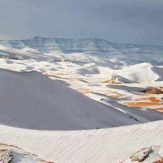 Szok! Śnieg na Saharze [ZOBACZ ZDJĘCIA] - Silesion.pl