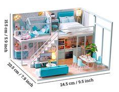 Sims 4 House Design, Tiny House Design, Tiny House Loft, Loft Design, Design Design, Wooden Dollhouse, Diy Dollhouse, Dollhouse Miniatures, Victorian Dollhouse
