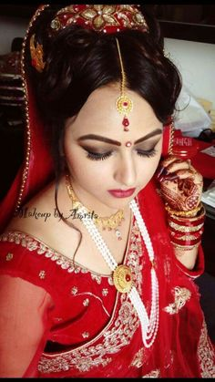 Nepali Bride Makeup and Hair by Dunia Ghabour @DuniaGhabour ...