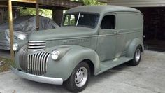 This 1946 Chevy Panel Truck with some different rims would make me very happy.