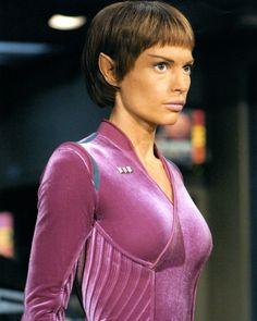 "The women of Star Trek TV Series: Enterprise. Actres: Jolene Blalock who played "" T'Pol"". Star Trek Tv Series, Film Star Trek, Star Wars, Star Trek Tos, Star Trek Enterprise, Star Trek Voyager, Aliens, Star Trek Cosplay, Star Trek"