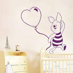 Wall Decals Winnie The Pooh Piglet Heart Art Kids Room Vinyl Sticker Decor MR462 #STICKALZ #MuralArtDecals