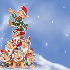Christmas – Disney – The Seven Dwarfs Christmas – Disney – The Seven Dwarfs – Disney Crafts Ideas Christmas Scenes, Noel Christmas, Disney Christmas, Christmas Pictures, Vintage Christmas, Christmas Crafts, Scrapbook Disney, Christmas Cartoons, Seven Dwarfs