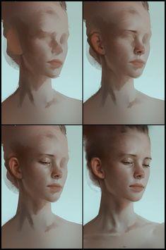 Resultado de imagem para woman painting process clavicule