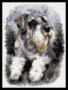 Schnauzer cross stitch kits