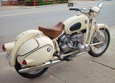 1959 Dover White BMW R50 With Eduro Bags