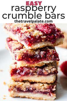 Rasberry Desserts, Fresh Raspberry Recipes, Raspberry Cookies, Desserts With Raspberries, Blue Desserts, Best Easy Dessert Recipes, Easy Desserts, Sweet Recipes, Snack Recipes