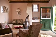 One of the most beautiful guest houses and B&Bs in Swellendam, on South Africa's Garden Route. Experience stylish guesthouse living on a large country retreat. Furniture, Retreat, House, Garden Suite, Country Retreat, Home Decor, Hideaway, Small Hotel, Lounge