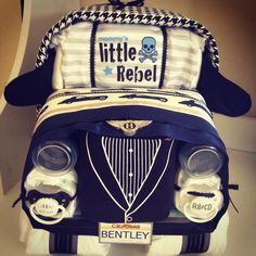 Bentley diaper car cake