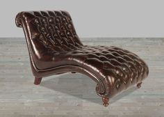 Toberlone Leather Cathay Collection Vintage Chaise and Half Leather Chaise Lounge Chair, Free Frames, Nailhead Trim, Brown Fashion, Seat Cushions, Hardwood, Collection, Vintage, Design