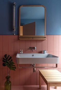 Grzywinski+Pons Infuses the Whitworth Locke Hotel with a Classic Yet Contemporary Charm - Design Milk Bathroom Interior Design, Interior Decorating, Interior Livingroom, Toilet Design, Deco Design, Bathroom Inspiration, Small Bathroom, Modern Bathroom, Colorful Bathroom