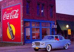 17414STUDEBAKER 1959 - LARK - Drink - COCA-COLA*    - 41x29-