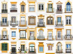 """Arranged as a mosaic, photos of windows from a single location can take on a visual theme. The city's aesthetic and cultural icons can reveal themselves through the repetition. Portuguese photographer André Vicente Gonçalves has compiled thousands of photographs of individual windows to build his Windows of the World photo collage series. """"When I'm photographing, I give a lot of importance to the small details,"""" Goncalves says. He adds, """"I find it amusing that a small piece of glass between…"""