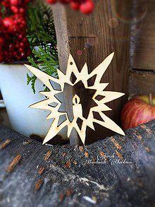 Dekorácie - Vianočný výrez vločka - sviečka (A11) - 7172615_