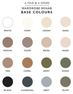 A Pair & A Spare | How to Choose The Colour Palette For Your Wardrobe. Base Colours