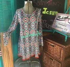 The Hippy dress is a handmade cotton knit dress  to by HoodieWinks