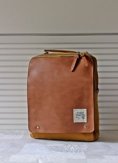 New Square Backpack Mustard by BagDoRi on Etsy, $79.50