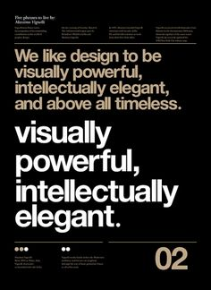 Designspiration — Vignelli Forever on the Adweek Talent Gallery | glowing resonance.