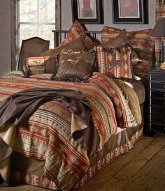 Find cowboy bedding, luxury western comforters and western bedroom decor. We have a huge selection of cowboy comforters, quilts and bedding sets. Western Comforter Sets, Rustic Bedding Sets, Country Bedding, Rustic Comforter, King Comforter, Southwestern Bedding, Western Bedroom Decor, Western Decor, Western Theme