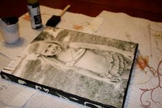 DIY Canvas Photo Project with decorative sides