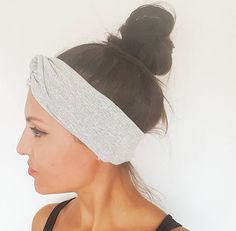 Bandeau cheveux femme gris