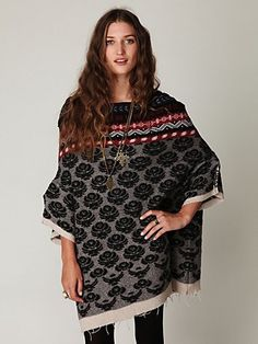 PONCHOS ARE BACK IN STYLE!! :D