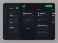 Kaoo - Dashboard by Eugeniusz Eudokimow Web And App Design, Flat Web Design, Dashboard Design, App Ui Design, Mobile App Design, Design Websites, Game Design, Application Ui Design, Interaktives Design